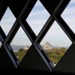 窓から和歌山城